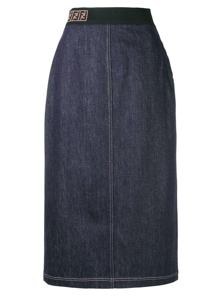 Fendi pencil denim skirt - Blue