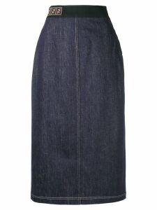Fendi pencil denim skirt - Blue