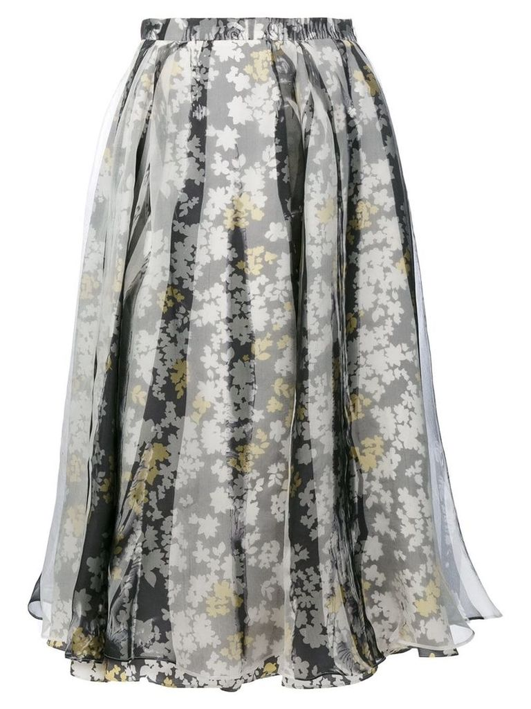 Jil Sander floral pleated skirt - Multicolour