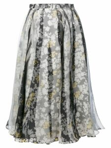 Jil Sander floral pleated skirt - Multicolour