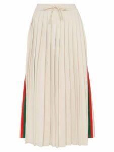 Gucci pleated ribbon skirt - Neutrals
