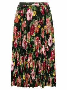 Junya Watanabe floral pleated skirt - Black