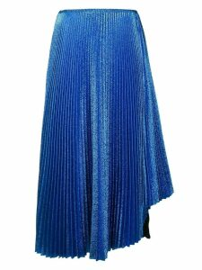 Cédric Charlier flared midi skirt - Blue
