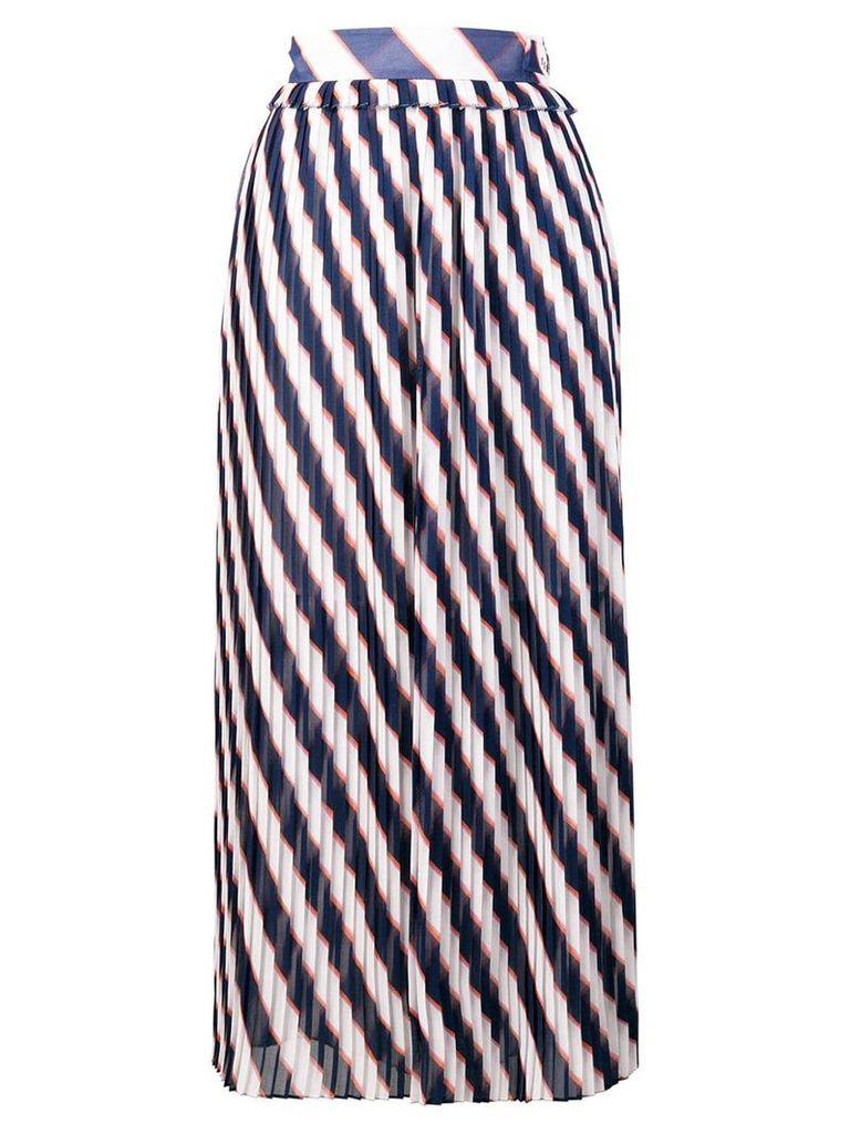 Golden Goose Hamal striped midi skirt - White