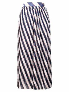 Golden Goose Hamal striped midi skirt - White