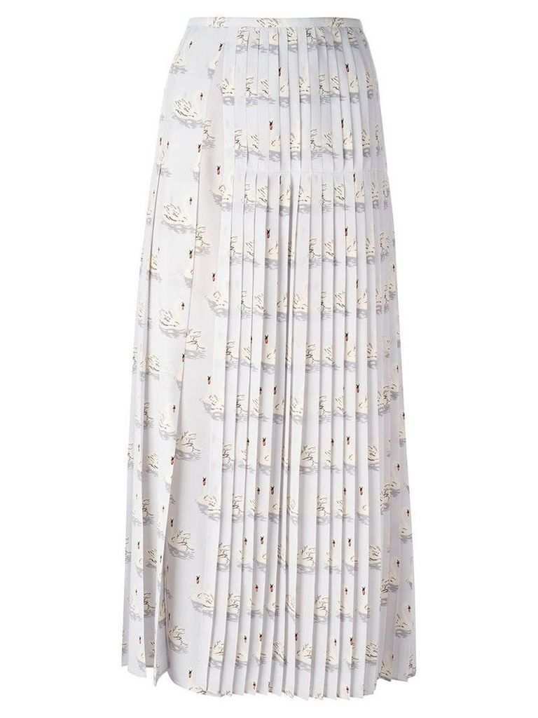 Stella McCartney 'Domiziana' swan print skirt - Grey