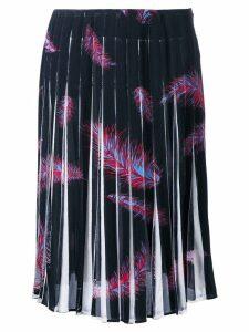 Emilio Pucci 'Feathers Print Crepe de Chine' skirt - Black