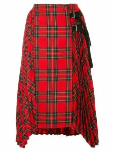SJYP high-waisted pleated skirt - Red