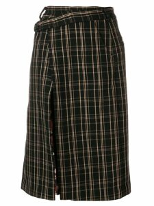 Snow Xue Gao contrasting panels skirt - Black