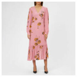 McQ Alexander McQueen Women's Puff Sleeve Volume Dress - Bunny Pink