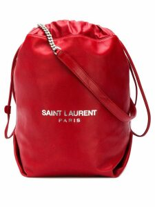 Saint Laurent red Teddy bucket bag