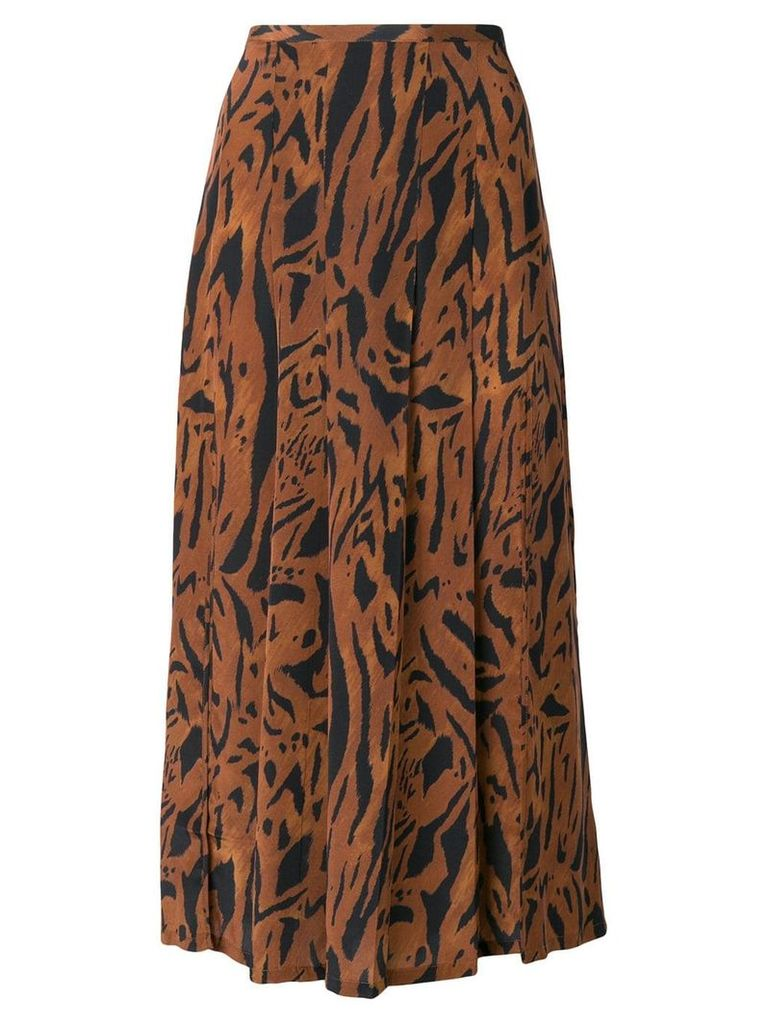 Rixo tiger print skirt - Brown