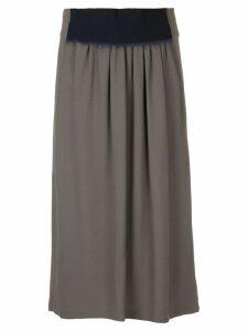 Jil Sander contrast waistband skirt - Grey