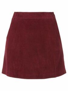 Loveless straight mini skirt - Red