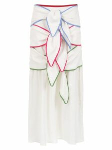 Framed Rainbow midi skirt - White