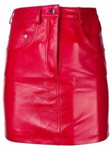 Manokhi straight mini skirt - Red