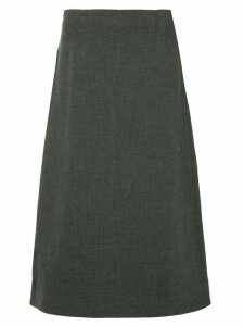 Le Ciel Bleu straight midi skirt - Grey