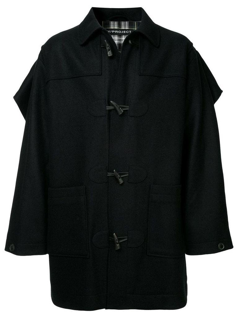 Y/Project caped duffle coat - Black