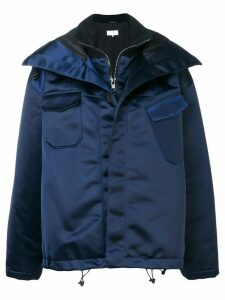 Maison Margiela zipped up parka - Blue