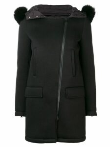 Herno hooded mid-length coat - Black