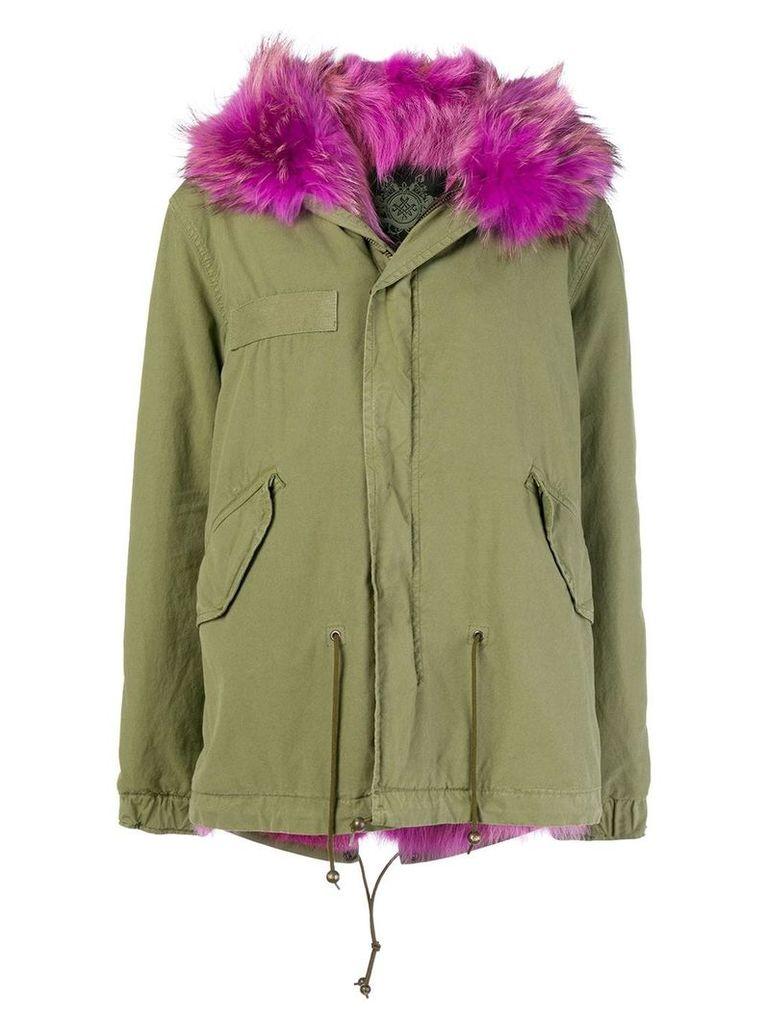 Mr & Mrs Italy short length parka coat - Green