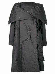 Issey Miyake foldover padded coat - Black