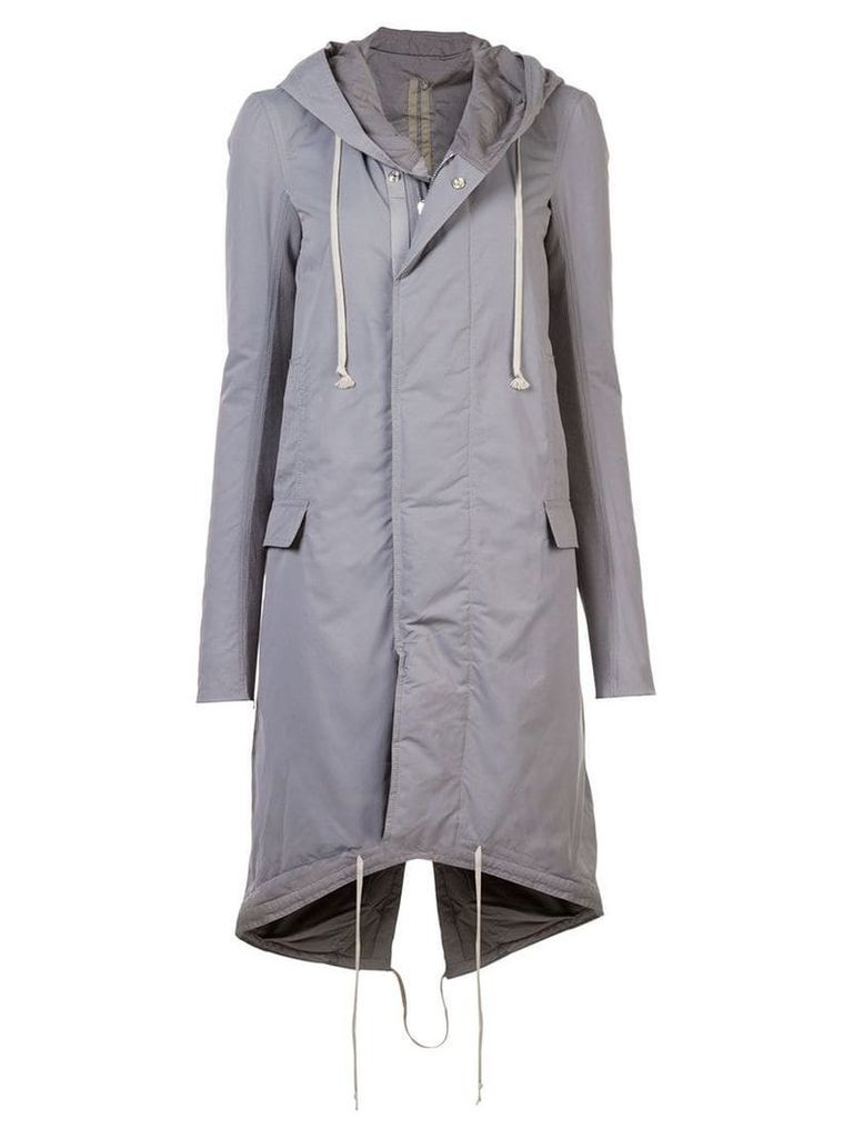 Rick Owens DRKSHDW hooded parka - Grey