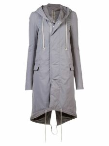 Rick Owens DRKSHDW hooded parka - Grey