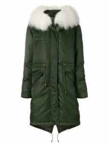 Mr & Mrs Italy trimmed hood padded parka - Green