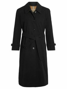 Burberry Side-slit Tropical Gabardine Trench Coat - Black