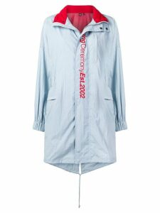 Opening Ceremony crinkled fishtail parka - Blue