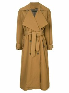 Muller Of Yoshiokubo belted trench coat - Brown