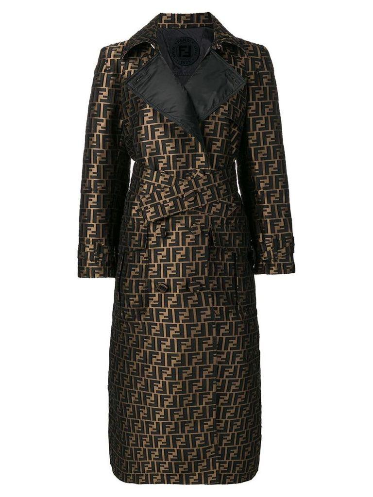 Fendi FF motif trench coat - Brown