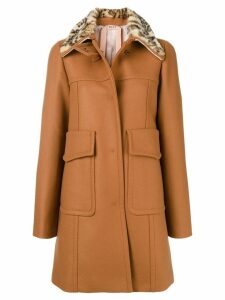 Nº21 embellished winter coat - Brown