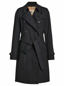 Burberry The Kensington Heritage Trench Coat - Blue