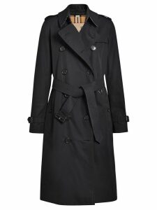 Burberry The Long Kensington Heritage Trench Coat - Black