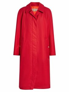 Burberry single-breasted rain coat - Red