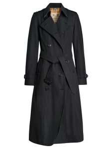 Burberry The Long Chelsea Heritage Trench Coat - Blue