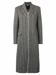 Stella McCartney tweed long coat - Black