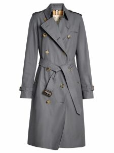 Burberry The Long Kensington Heritage Trench Coat - Grey