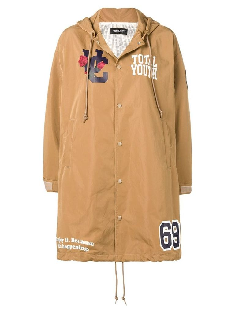 Undercover printed hooded raincoat - Neutrals