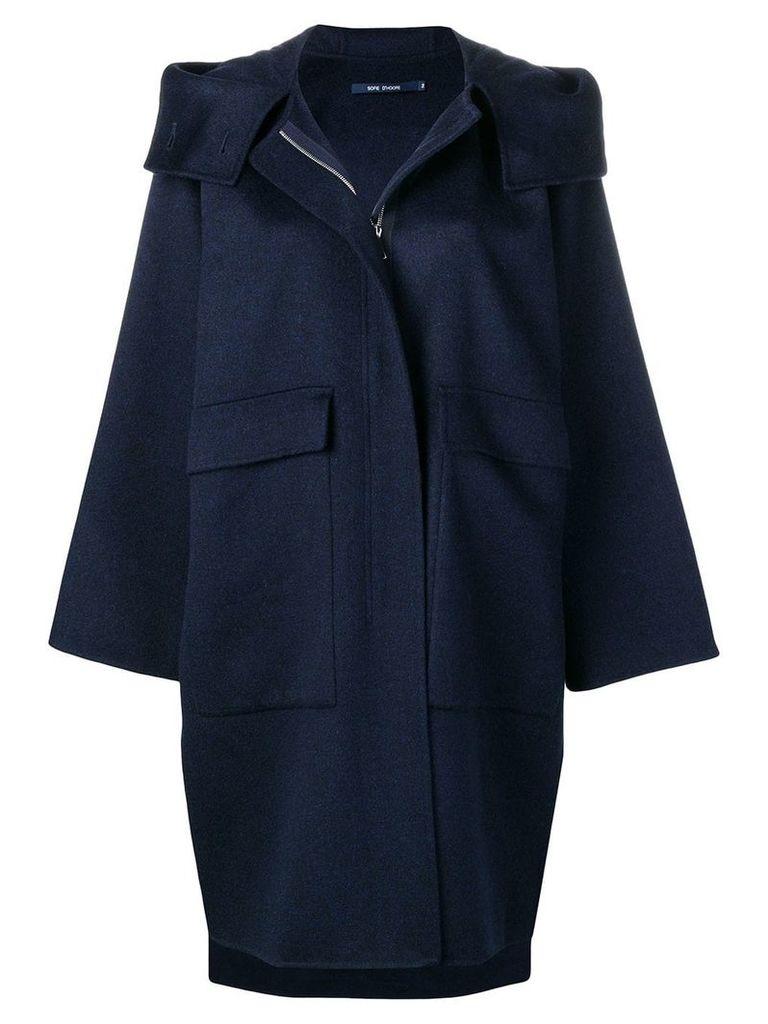 Sofie D'hoore Candia hooded coat - Blue
