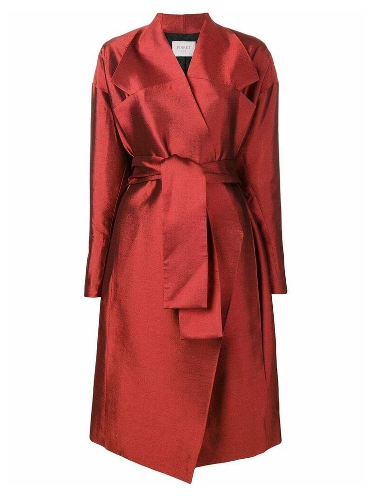 Poiret Belted CoatBelted Coat - Red