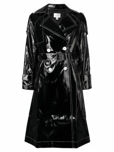 Jovonna Katia PU trench coat - Black