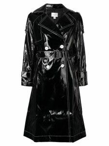 Jovonna Katia PU trench coat - Black