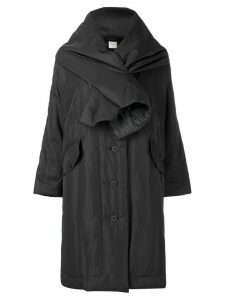 Pleats Please By Issey Miyake scarf raincoat - Black