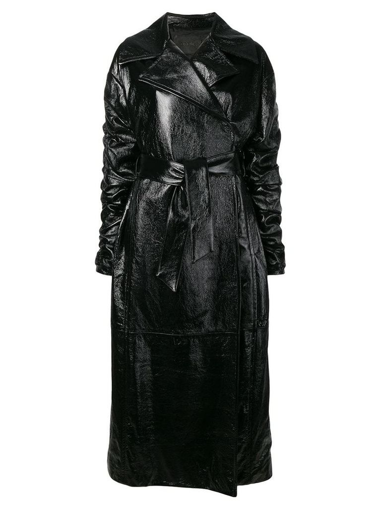 Drome belted long trench coat - Black