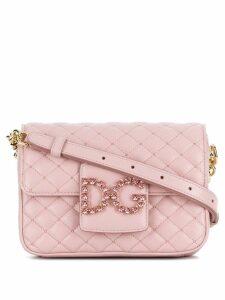Dolce & Gabbana foldover logo crossbody bag - Pink