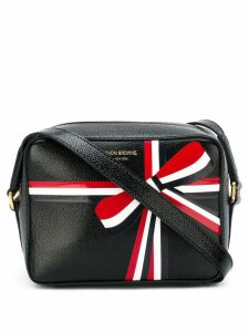 Thom Browne bow print shoulder bag - Black