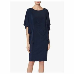 Gina Bacconi Rene Jersey Waterfall Sleeve Dress